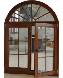 European-America-Casement-Style-Aluminium-Wood-Window